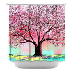 DiaNoche Designs - Shower Curtain Artistic Story of the Tree lxxiv - DiaNoche Designs works with artists from around the world to bring unique, artistic products to decorate all aspects of your home.  Our designer Shower Curtains will be the talk of every guest to visit your bathroom!  Our Shower Curtains have Sewn reinforced holes for curtain rings, Shower Curtain Rings Not Included.  Dye Sublimation printing adheres the ink to the material for long life and durability. Machine Wash upon arrival for maximum softness. Made in USA.  Shower Curtain Rings Not Included.