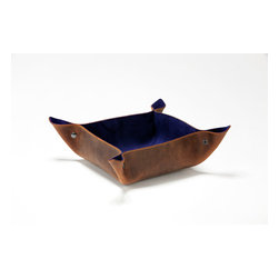 Working Class Studio - Elyse Collection Catchall, Indigo, Medium - Unlike your keys, these handsome leather catchall containers look stylish lying around just about anywhere — and that's the point. Set one on your entryway table, coffee table or counter to catch your phone and pocket whatnots and look deliberate about it.