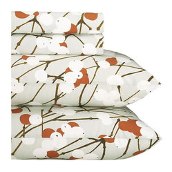 Marimekko Lumimarja Rust King Sheet Set