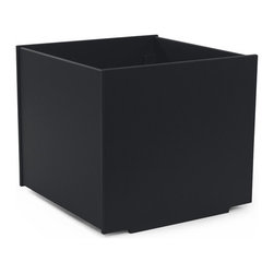 Loll Designs - Square Planter 22 Gallon, Black - The Loll Flora Collection was created to work in a variety of outdoor garden settings. The recycled and recyclable poly material is made to withstand the test of time and extreme weather. In addition, the joinery on our modern containers allow for a slow, seeping drainage and holes can easily be drilled in the bottom if desired. All pieces are flat-packed with simple, fun, and intuitive assembly.