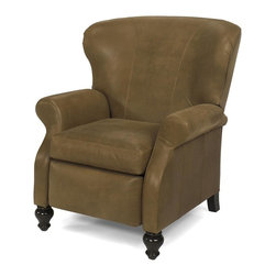 EuroLux Home - New Leather Recliner Chair Consigned Antique Style - Product Details