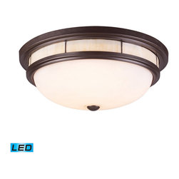 Elk Lighting - Landmark Lighting Tiffany 70014-3-LED 3-Light Flush Mount in OiLED Bronze - LED - 70014-3-LED 3-Light Flush Mount in OiLED Bronze - LED - 800 Lumens belongs to Tiffany Flushes Collection by Landmark Lighting The Tiffany Flushes Collection Exhibits The Same Beautiful Detailing As A Chandelier, But In A Smaller Size Suitable For Lower Ceilings And Smaller Spaces. Each Item Has An Attractive Tiffany Banding On Top And A Decorative Finial. Choose From Various Styles And Finishes To Match Your decor. - LED, 800 Lumens (2400 Lumens Total) With Full Scale Dimming Range, 60 Watt (180 Watt Total)Equivalent , 120V Replaceable LED Bulb Included Flush Mount (1)