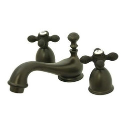 "Elements Of Design - Elements Of Design ES3955AX Oil Rubbed Bronze Chicago Double Handle 4"" - Double Handle 4"" to 8"" Mini Widespread Lavatory Faucet with American Cross Handles and Drain Assembly from the Chicago CollectionElements of Design s primary mission is to become the leading provider of cost effective, high quality products in the plumbing community. Their focus has made them grow by leaps and bounds in just a few years by identifying the key problems in manufacturing today and solving them. Elements of Design produces high quality products ranging from kitchen, bath, and lavatory faucets to accessories such as diverters, towel bars, robe hooks, supply lines, and miscellaneous parts. With our low price, amazing stock times and quality products, you can rest assured that when you order a Elements of Design product you will love every part of the experience, and it will last for generations to come.1/4 turn valvesCeramic disc cartridge1/2"" IPS inlets4-1/2"" spout reach5/8"" spout heightIncludes brass drain assemblyConstructed from solid brass for durability and reliabilityFinished with a premium color to resist tarnishing and corrosion"