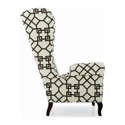 Point Lookout Chair - CB Upholstered Collection - With a flair for the dramatic, the Point Lookout Chair boasts a high back with grand sweeping curves forming its sophisticated silhouette. The modified wingback frame is on exposed turned wood legs while its seat cushion welcomes plush comfort. Available in many fabrics. Coach Barn has proudly paired with a renowned manufacturer to create a collection of quality crafted, American-made upholstered furniture. Named after places surrounding our Long Island home, the CB Upholstered Collection features timeless silhouettes that are hand cut, tailored and crafted in the USA for exceptional quality using sustainable, world-friendly materials and practices. Choose a fabric and finish to create a look that expresses your style.