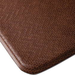"Imprint Comfort Mats - Imprint Cumulus9 Comfort Mat 26 X 72, Toffee Brown, 26"" X 72"", Cobblestone - Number One Consumer Rated Anti Fatigue Comfort Mat.   Sink your feet into the Cumulus9 with its proprietary Multi-Core Technology. Feel how it conforms to the shape of your feet and supports your arches for relief of back, leg and foot discomfort. The advantage is its proprietary multilayer cushioning system. The soft, upper layer luxuriously cushions your feet while the firm, lower layer provides soothing support. You will want an Imprint Comfort Mat everywhere you work and stand _ kitchen, laundry, bathroom, garage,workshop and more. University tested and proven by the Center for Ergonomics to reduce overall fatigue and discomfort by up to 60%. No-curl edges and stay-flat memory ensure Imprint Mats will not  curl like other mats. Environmentally friendly, non-toxic and phthalate free .Safe for children and pets. 7-year warranty. 100% satisfaction guarantee."