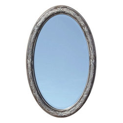 Corinthian Decorative Beveled Oval Mirror - Venetian Bronze - The Corinthian Decorative Beveled Oval Mirror will add a beautiful accent to your home, thanks to its intricately designed frame.