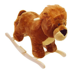 """Happy Trails - Happy Trails Lion Plush Rocking Animal Multicolor - 80-77LION - Shop for Rocking Toys from Hayneedle.com! Riding the Happy Trails Lion Plush Rocking Animal is sure to become the """"mane"""" event in your child's play area. Create precious memories of your wee one astride this adorable rocker while your child is learning balance the relaxation of a familiar rocking motion and how to interact with toys. Handcrafted and covered with brown plush fabric plus firm wooden handles for kids to hold on to this rocking lion is sure to be a long time favorite and even passed down to the next generation. Recommended for children 3 years and up up to 80 pounds."""