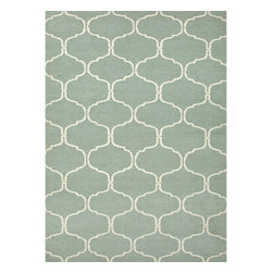 Jaipur Rugs - Jaipur Rugs Flat-Weave Moroccan Pattern Wool Blue/Ivory Area Rug, 9 x 12ft - An array of simple flat weave designs in 100% wool - from simple modern geometrics to stripes and Ikats. Colors look modern and fresh and very contemporary.