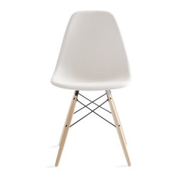Herman Miller - Eames Molded Plastic Dowel Leg Side Chair - One of these Eames chairs will be perfect for when I need to get work done at my computer desk. Add a throw over the back, and I'll be set for chilly weather.