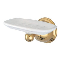 Kingston Brass - Wall Mount Soap Dish - Kingston Brass' bathroom accessories are built for long-lasting durability and reliability. They are designed so you can easily coordinate matching pieces. Each piece is part of a collection that includes everything you need to complete your bathroom decor. All mounting hardware is included and installation is easy.