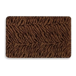 Home Dynamix/division Of Emerem,inc - Sonoma Anti-Fatigue Kitchen Cushion Mat in Brown Zebra Stripe - Enjoy working in the kitchen when you stand on the Sonoma cushion mat. The mat includes a non-skid gripper back and anti-fatigue capabilities when standing for long periods of time.