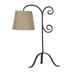 Kenroy Home - Kenroy Home 32086 1 Light Table Lamp - 1 Light Table Lamp with On / Off Line Switch from the Morrison CollectionWhether it's behind a couch or beside a favorite chair, Morrison's hanging light brightens a reading environment. The classic curlicue design, finished in Bronze Graphite, is reminiscent of old wrought iron gates.Features: