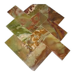"""Marbleville - Dark Green Onyx 3"""" x 6"""" Polished Brick Pattern Mosaic Tile - Premium Grade Dark Green Onyx 3"""" x 6"""" Polished Marble Mosaic  is a splendid Tile to add to your decor. Its aesthetically pleasing look can add great value to the any ambience. This Mosaic Tile is constructed from durable, selected natural stone Marble material. The tile is manufactured to a high standard, each tile is hand selected to ensure quality. It is perfect for any interior/exterior projects such as kitchen backsplash, bathroom flooring, shower surround, countertop, dining room, entryway, corridor, balcony, spa, pool, fountain, etc."""