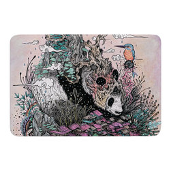 """KESS InHouse - Mat Miller """"Land of The Sleeping Giant"""" Panda Memory Foam Bath Mat (17"""" x 24"""") - These super absorbent bath mats will add comfort and style to your bathroom. These memory foam mats will feel like you are in a spa every time you step out of the shower. Available in two sizes, 17"""" x 24"""" and 24"""" x 36"""", with a .5"""" thickness and non skid backing, these will fit every style of bathroom. Add comfort like never before in front of your vanity, sink, bathtub, shower or even laundry room. Machine wash cold, gentle cycle, tumble dry low or lay flat to dry. Printed on single side."""