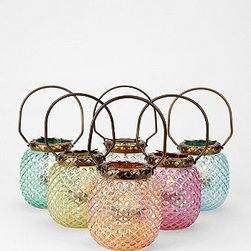 Hobnail Votive Candle Holder - These jewel-colored votives would be fabulous table decor for an alfresco Moroccan feast. Get the tagine cooking, and throw some eclectic rugs and cushions around to create a Mediterranean oasis in your backyard.