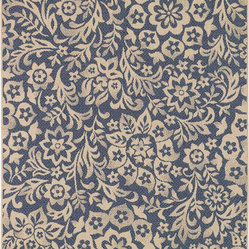 Sterling Jardin Blue Floral Indoor/Outdoor Area Rug