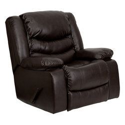 Flash Furniture - Flash Furniture Plush Brown Leather Rocker Recliner - MEN-DSC01078-BRN-GG - This motion recliner will provide you comfort with the added bonus of the rocking feature. The rocker recliner can not only be used in the living room, but makes for a great nursery chair. The gentle back and forth rocking is soothing to both babies and adults. The thick cushions add to the comfort level to provide you comfort while you relax. The durable leather upholstery allows for easy cleaning and regular care. [MEN-DCS01078-BRN-GG]