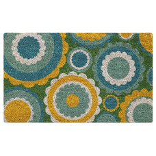 Contemporary Doormats Mod Flowers Doormat