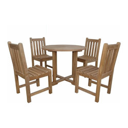 Anderson Outdoor Furniture - Montage Braxton Bistro Set - Need an excuse to get outdoors? Take fine dining al fresco with this classic dining set. With its wining combination of solid traditional construction and kiln-dried teak, it's sure to last.