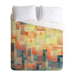 DENY Designs - DENY Designs Jacqueline Maldonado Cubism Dream Duvet Cover - Lightweight - Turn your basic, boring down comforter into the super stylish focal point of your bedroom. Our Lightweight Duvet is made from an ultra soft, lightweight woven polyester, ivory-colored top with a 100% polyester, ivory-colored bottom. They include a hidden zipper with interior corner ties to secure your comforter. It is comfy, fade-resistant, machine washable and custom printed for each and every customer. If you're looking for a heavier duvet option, be sure to check out our Luxe Duvets!