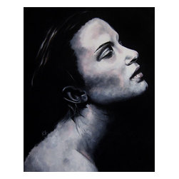 """Isolde (Portrait Series #2), Original, Painting - - 16"""" x 20"""" (1.5"""" deep)  - 2nd painting of portrait series #2  - professional grade acrylics on gallery wrapped, professional grade cotton canvas - wired for hanging on the back - initialed on the front, signed on the back"""