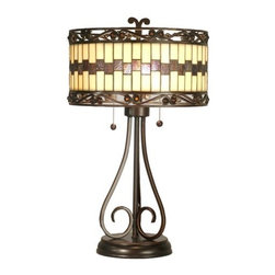 "Dale Tiffany - Dale Tiffany TT80124 15"" x 24"" Giuseppe Table Lamp - 15"" x 24"" Giuseppe Table LampFeatures:"
