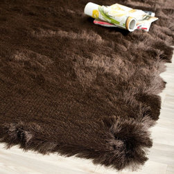 Safavieh - Shag Paris Shag 4'x6' Rectangle Chocolate - Chocolate Area Rug - The Paris Shag area rug Collection offers an affordable assortment of Shag stylings. Paris Shag features a blend of natural Chocolate - Chocolate color. Hand Tufted of Polyester the Paris Shag Collection is an intriguing compliment to any decor.