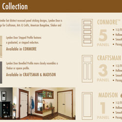 Craftsman Molded Interior Doors - Respecting tradition, embracing innovation - The Craftsman is one of three recessed, flat panel doors offered within the Craftsman Cllection by Lynden Door.
