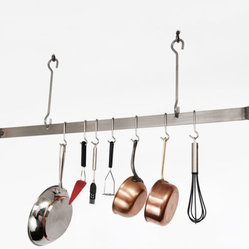Enclume Deep Bookshelf Rack Pot Rack Hammered Steel