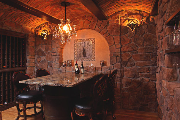 Mediterranean Wine Cellar by Murphy Bros. Designers & Remodelers
