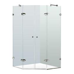 """VIGO Industries - VIGO 40 x 40 Frameless Neo-Angle 3/8"""" Shower, Clear/Chrome, Without Base - The VIGO Frameless Neo-angle Clear/Chrome Shower Enclosure will be a bold and impressive addition to any bathroom."""