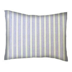 SheetWorld - SheetWorld Twin Pillow Case - Lavender Dual Stripe - Made in USA - Pillow case is made of a durable all cotton percale material. Fits a standard twin size pillow. Features beautiful Lavender Dual Stripe.