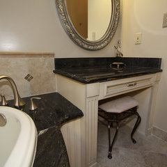 traditional bathroom vanities and sink consoles by Architectural Justice