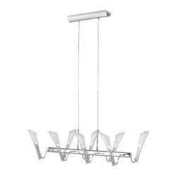 Eglo - Eglo 87152A Forio 8 Light Single Tier Linear Chandelier - Features: