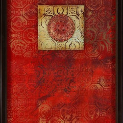 Paragon Decor - New Paradigm I Artwork - Exclusive Hand Painted Mixed Media Collage - Mounted on Board