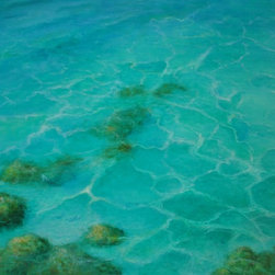 "Original Tropical Seascape Oil Painting (Water #2) - Water #2 is an original 30""x40"" tropical oil painting on gallery wrap canvas."