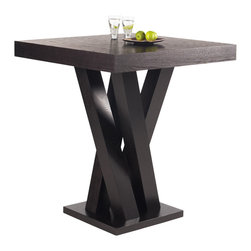 Sunpan - Sunpan Madero Bar Table - Enrich the interior decor of your living space with the Madero bar table. Designed with contemporary style,this solid ash wood table comes in a rich dark espresso finish to complement a wide variety of decor styles.