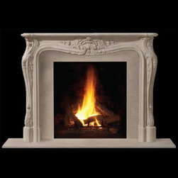 Louis II Stone Fireplace Mantel - Fit for a king, the Louis II stone mantel features intricate carvings and handcrafted details for the most regal of living rooms. Available in a number of sizes and finishes, it's just the home upgrade you need!