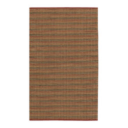 Couristan - Nature'S Elements Fire Rug 7187/0001 - 3' x 5' - These eco-friendly, flatwoven area rugs will add the perfect casual design element to any interior in the home. Their rustic, mellow aesthetic has been designed to add new life to interiors that are themed around artisan-crafted decor. Perfect for casual dens to inspired sunrooms these lightweight and versatile area rugs can be used in a multitude of spaces as subtle accent pieces.