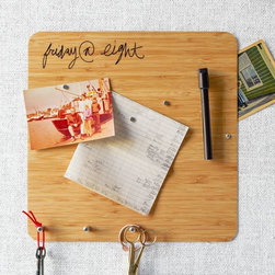 Magnetic Bamboo Board - I love the look of bamboo, and this board is even cooler because it's magnetic!