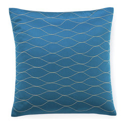 Jiti - Kelp Blue Pillow - Jazz up your home decor with our Kelp Blue Pillow!  Made from 100% Cotton. Invisible Zipper. DRY CLEAN ONLY. Insert is made of 95% feathers and 5% down.