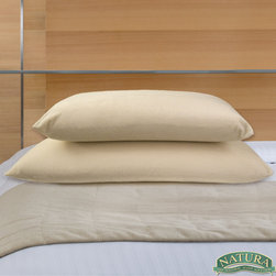 Natura World - Natura Memory Foam Ventilated Core Pillow - This memory foam pillow self-adjusts to gently release tension and relax the neck and shoulder muscles. The ventilated core of this plush pillow stays cool throughout the night while it conforms to natural cervical alignment.