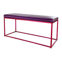 Raspberry Cromatti Croma Bench With Purple Cushion - $800 Est. Retail - $400 on -
