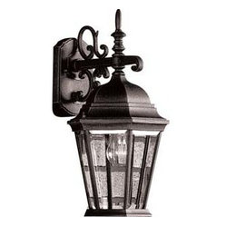 Artcraft Lighting AC8421BK Tudor Black Outdoor Wall Sconce