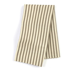 Taupe Ticking Stripe Custom Napkin Set - Our Custom Napkins are sure to round out the perfect table setting'whether you're looking to liven up the kitchen or wow your next dinner party. We love it in this traditional taupe & ivory ticking stripe woven in super soft cotton.