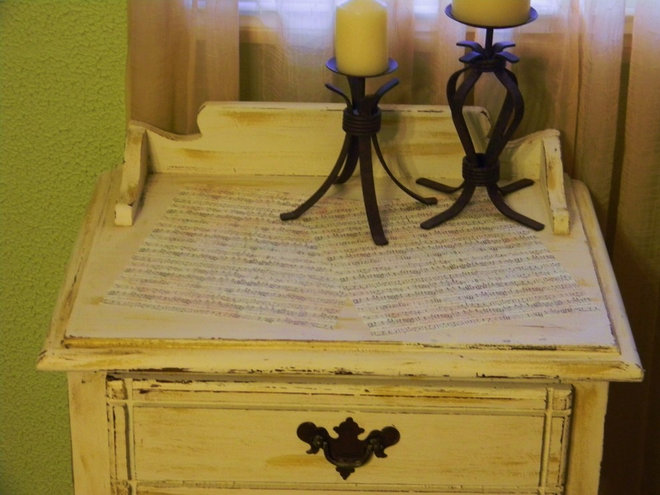 Eclectic  my sheet music end table