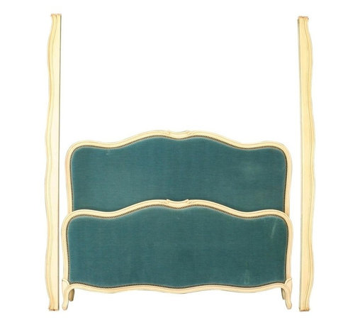 EuroLux Home - Consigned Vintage French Bed Louis XV Style Painted - Product Details