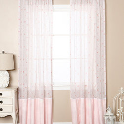 Best Home Fashion - Pink Rose Pocket Curtain Set - A sheer design infuses your space with natural light, while a charming floral print adds feminine flare to décor.   Includes two panels 52'' W x 84'' H 100% polyester Machine wash Imported
