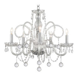 The Gallery Crystal Chandelier With Crystal Balls