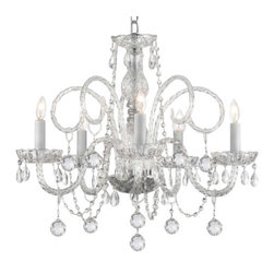 The Gallery - Crystal Chandelier with Crystal Balls - Bedazzle in your decor, beyond your wildest dreams. This enchanting chandelier — bedecked with drops, beads and balls — is a crystal clear testament to your exquisite taste.